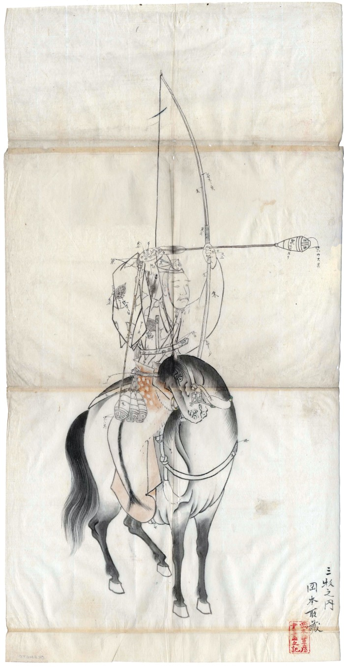 Archer on horseback preparing to shoot an arrow