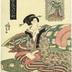 Praying for Rain (<i>Amagoi</i> - 雨乞 ) from the series <i>Modern Beauties as the Seven Komachi</i> (<i>Tōsei bijin Nana Komachi</i> - 当世美人七小町)