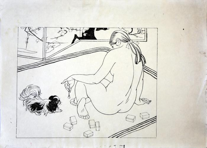 Sound of a Bell (Suzu no Ne - 鈴の音) key block from the series <i>Ten Types of Female Nudes</i> (<i>Rajo jūsshu</i> - 裸女十種)
